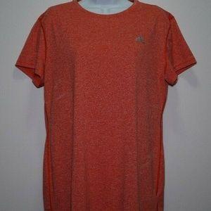 Sz XL Ladies Adidas Shirt Short Sleeve - RED